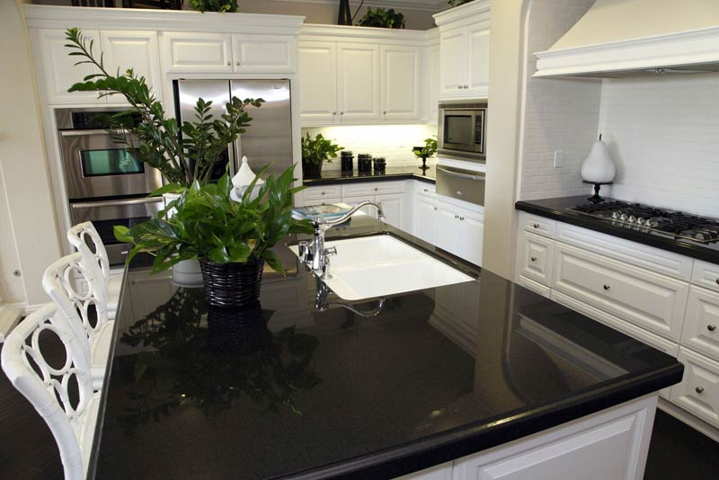 Exceptional Granite Countertops Black White Cabinets US Affordable Granite Company,