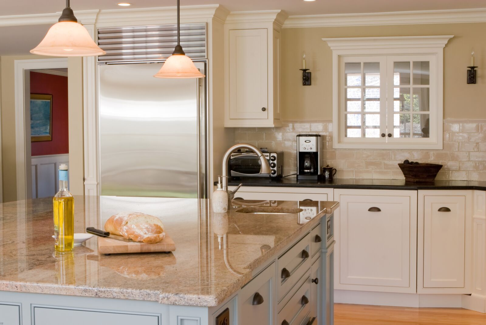 Granite Countertops Cream White Cabients US Affordable Granite Company,